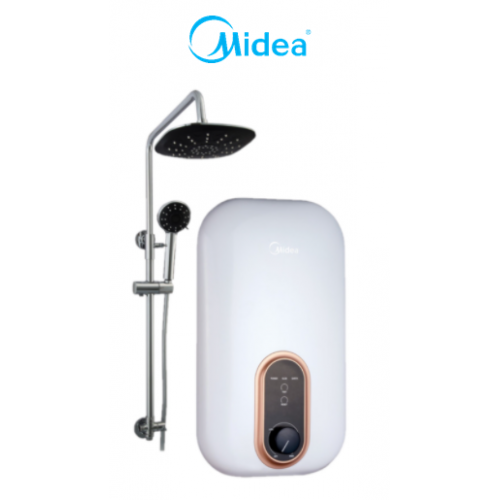MIDEA 3800 W INSTANT Rain Showerhead WATER HEATER with DC Pump MWH-38U3-RS-WT