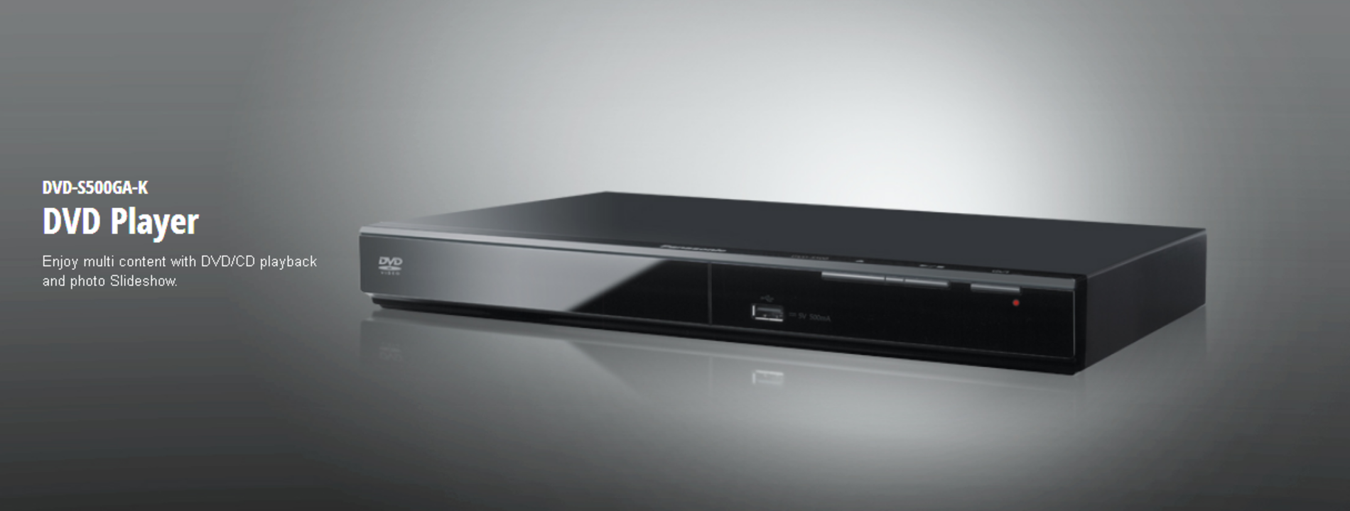 Panasonic S500 DVD player